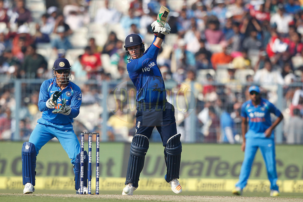 Jason Roy of England bats during the third One Day International (ODI) between India and England  held at Eden Gardens in Kolkata on the 22nd January 2017<br /> <br /> Photo by: Deepak Malik/ BCCI/ SPORTZPICS