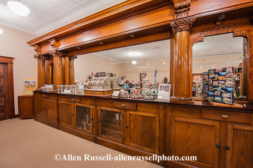 Big Horn County Historical Museum, Visitor Center, Hardin Montana, antique bar.