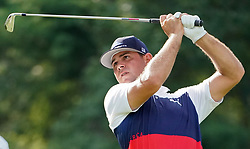 August 9, 2018 - St. Louis, Missouri, United States - Gary Woodland tees off during the first round of the 100th PGA Championship at Bellerive Country Club. (Credit Image: © Debby Wong via ZUMA Wire)