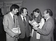 """Launching of book """"Dublin The Deposed Capital"""" at Newman House, Stephen's Green St., Dublin,<br /> 17th May 1984"""