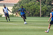 Forest Green Rovers Dale Bennett(2) during the Forest Green Rovers Training session at Browns Sport and Leisure Club, Vilamoura, Portugal on 25 July 2017. Photo by Shane Healey.