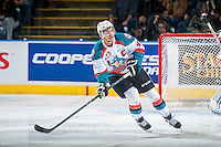KELOWNA, CANADA - JANUARY 16: Madison Bowey #4 of the Kelowna Rockets skates against the Seattle Thunderbirds on January 16, 2015 at Prospera Place in Kelowna, British Columbia, Canada.  (Photo by Marissa Baecker/Shoot the Breeze)  *** Local Caption *** Madison Bowey;