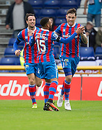 Inverness&rsquo; Greg Tansey is congratulated after scoring the second - Inverness Caledonian Thistle v Dundee in the Ladbrokes Scottish Premiership at Caledonian Stadium, Inverness. Photo: David Young<br /> <br />  - &copy; David Young - www.davidyoungphoto.co.uk - email: davidyoungphoto@gmail.com