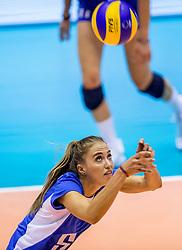 23-08-2017 NED: World Qualifications Greece - Slovenia, Rotterdam<br /> SloveniÎ wint met 3-0 / Eleni Kountoura #6 of Greece<br /> Photo by Ronald Hoogendoorn / Sportida