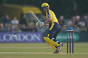 Hampshire batsman Jimmy Adams during the NatWest T20 Blast South Group match between Middlesex County Cricket Club and Hampshire County Cricket Club at Uxbridge Cricket Ground, Uxbridge, United Kingdom on 27 May 2016. Photo by David Vokes.