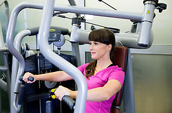 Lidlova Vitalnica z osebno trenerko Hano Verdev.<br /> // Hana Verdev, Personal Trainer during presentation of fitness exercises, on October 20, 2016 in Sunny Studio, Ljubljana, Slovenia. Photo by Vid Ponikvar / Sportida