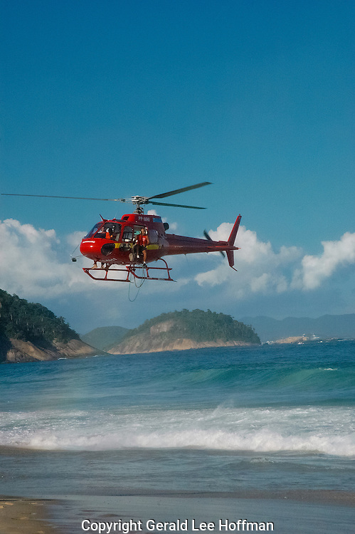 Copacabana beach rescue.