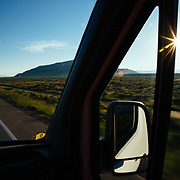 Dawson driving a Teton Science School wildlife tour through Grand Teton National Park, Wyoming.