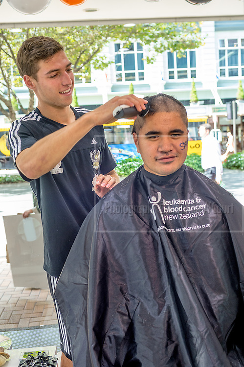 Shave For A Cure event, for Leukaemia & Blood Cancer New Zealand, at Farmers Lambton Quay, Wellington. 20 March 2014.  Photo credit: Stephen A'Court.