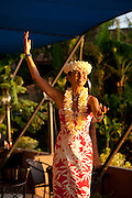 Hula dancer, Royal Lahaina Resort, Kaanapali, Maui, Hawaii