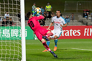 SYDNEY, AUSTRALIA - MAY 21: Sydney FC player Thomas Heward-Belle (30) saves a goal at AFC Champions League Soccer between Sydney FC and Kawasaki Frontale on May 21, 2019 at Netstrata Jubilee Stadium, NSW. (Photo by Speed Media/Icon Sportswire)