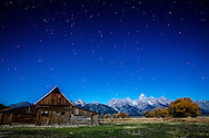 0450 Night at the Moulton Barn - Grand Teton National Park, Wyoming
