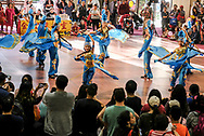 Dancers perform at the 37th anniversary Asian American Expo., at Pomona Fairflex on Sunday January 14, 2018 in Los Angeles, the United States. Asian American Expo  featuring arts, performances, vendors galore, entertainment, and traditional Chinese New Year ceremonies with dignitaries and the Dragon Dance .(Xinhua/Zhao Hanrong)<br /> <br /> (Photo by Ringo Chiu)<br /> <br /> Usage Notes: This content is intended for editorial use only. For other uses, additional clearances may be required.