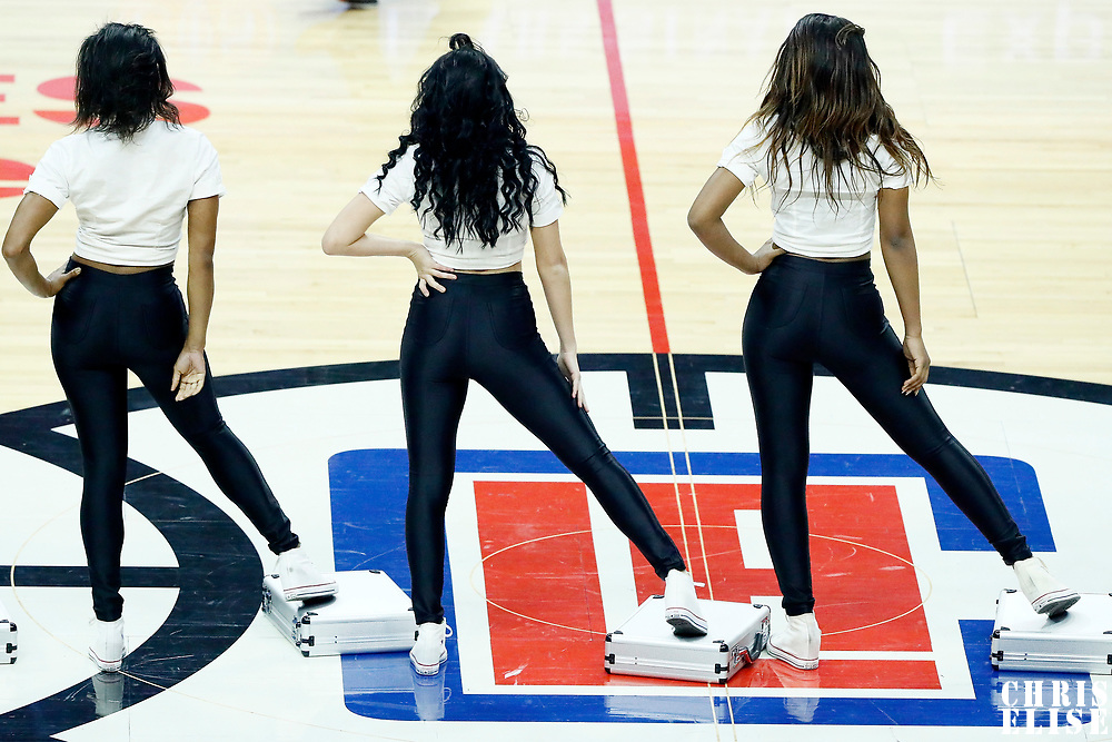 11 March 2017: LA Clippers Spirit dancers are seen during the LA Clippers 112-100 victory over the Philadelphia Sixers, at the Staples Center, Los Angeles, California, USA.