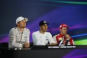 April 10-12, 2015: Chinese Grand Prix - Nico Rosberg  (GER), Mercedes , Lewis Hamilton (GBR), Mercedes, Sebastian Vettel (GER), Ferrari