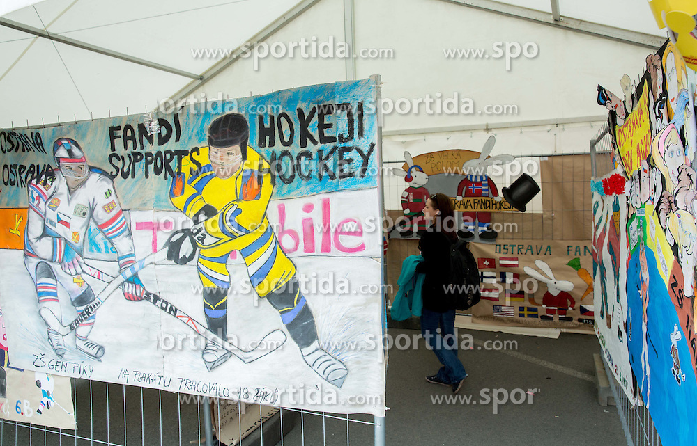 Children's drawings in  Fan zone at Day 5 of 2015 IIHF World Championship, on May 5, 2015 in CEZ Arena, Ostrava, Czech Republic. Photo by Vid Ponikvar / Sportida