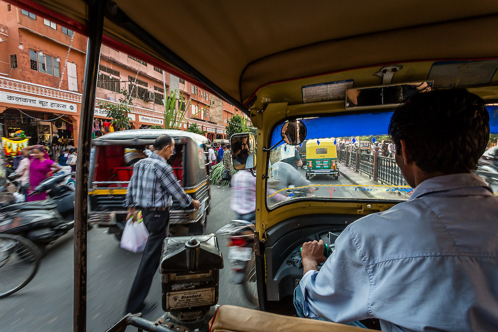 Riding a rickshaw or motorized rickshaw is probably one of the most convenient ways to go from one place to another in the chaotic traffic of cities in India