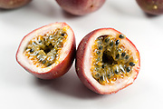 Cutout of a Passion Fruit on white background