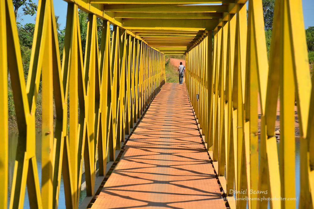 Footbridge in Urubicha, Santa Cruz, Bolivia