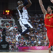 Kobe Bryant, USA, in action during the Men's Basketball Final between USA and Spain at the North Greenwich Arena during the London 2012 Olympic games. London, UK. 12th August 2012. Photo Tim Clayton
