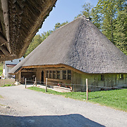 Thatched roof house, Ballenberg Open Air Museum for Rural Culture, Switzerland<br />