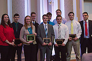 Civil Engineering Awards recipients, Fritz J. and Dolores H. Russ College of Engineering and Technology Student Awards Banquet April 10, 2016. (Photo by Emily Matthews)