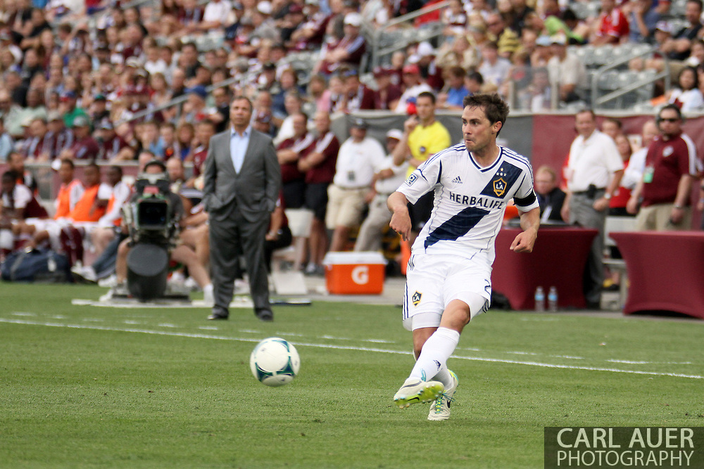 July 27th, 2013 - LA Galaxy defender Todd Dunivant (2) sends a pass in towards the goal during the second half of the Major League Soccer match between the LA Galaxy and the Colorado Rapids at Dick's Sporting Goods Park in Commerce City, CO