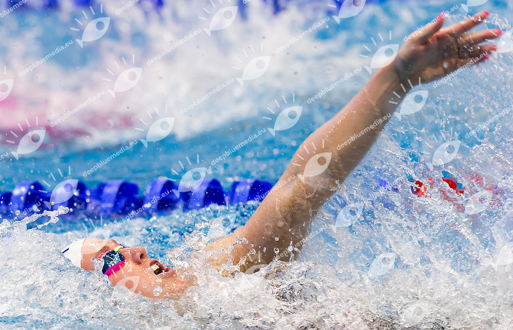 GRANGEON Lara FRA<br /> Women's 100m medley heats<br /> Netanya, Israel, Wingate Institute<br /> LEN European Short Course Swimming Championships  Dec. 2 - 6, 2015 Day02 Dec. 3nd<br /> Nuoto Campionati Europei di nuoto in vasca corta<br /> Photo Giorgio Perottino/Deepbluemedia/Insidefoto