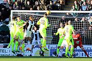 GOAL Hibernian defender Darren McGregor (24) scores to make it 1-2 during the Ladbrokes Scottish Premiership match between St Mirren and Hibernian at the Paisley 2021 Stadium, St Mirren, Scotland on 27 January 2019.
