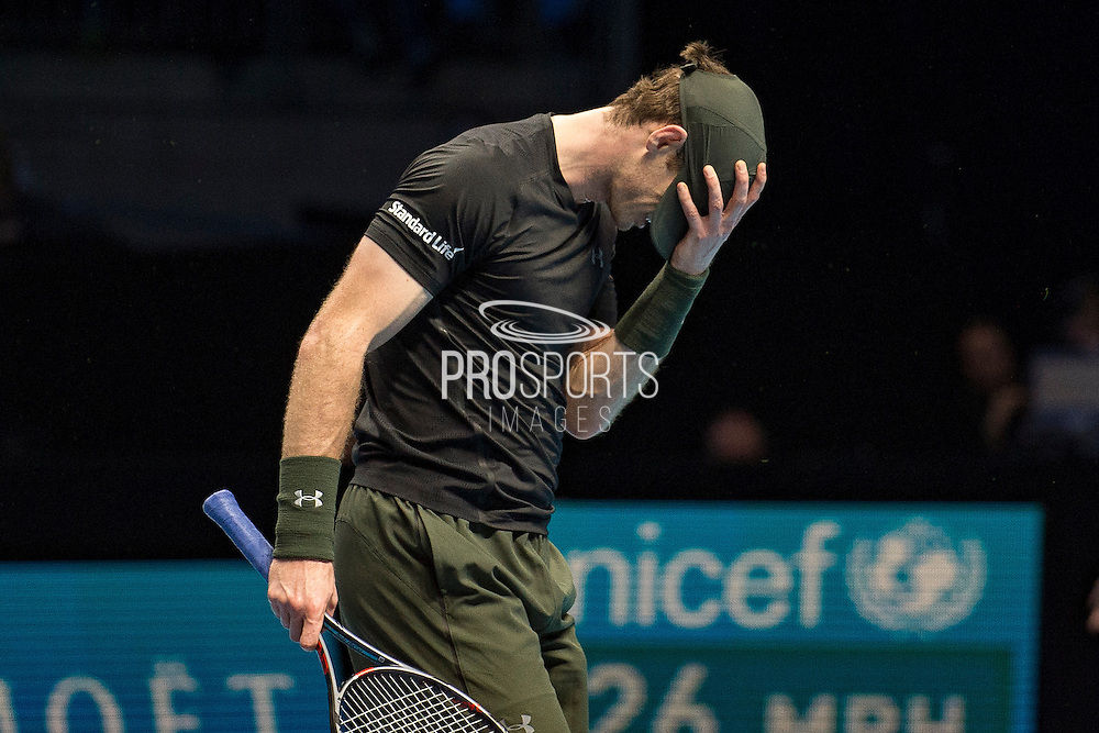 Andy Murray of Great Britain during the semi-final and day seven of the Barclays ATP World Tour Finals at the O2 Arena, London, United Kingdom on 19 November 2016. Photo by Martin Cole.