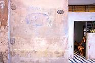 Vieja walls, signs, and graffiti.