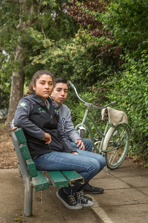 """Angelina wants to Marry a rich man...that's why I'm going to college to study kinesiology...they make a lot of money.""""   -Recent high school graduate Daniel Montanez, discusses the future with his girlfriend, Angelina Martinez, on Fair Way Street in Calistoga."""