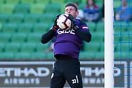 MELBOURNE, VIC - JANUARY 19: Perth Glory goalkeeper Liam Reddy (33) warms up at the Hyundai A-League Round 14 soccer match between Melbourne City FC and Perth Glory at AAMI Park in VIC, Australia 19th January 2019. Image by (Speed Media/Icon Sportswire)