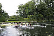 Henley, Great Britain.  Henley Royal Regatta. M4-, Stewards Challenge Cup, Austrailian Institute of Sport 'A', AUS [Bucks], and Chula Vista Training Center, USA [Berks], power away from  the Start. River Thames Henley Reach.  Royal Regatta. River Thames Henley Reach.  Saturday  02/07/2011  [Mandatory Credit  Intersport Images] . HRR