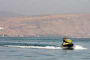 Israel, Lower Galilees, Summer Vacation at the Sea of Galilee Jet Ski