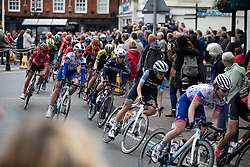 The peloton ride through Wantage on Stage 3 of 2019 OVO Women's Tour, a 145.1 km road race from Henley-on-Thames to Blenheim Palace, United Kingdom on June 12, 2019. Photo by Balint Hamvas/velofocus.com