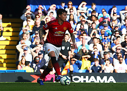 October 20, 2018 - London, England, United Kingdom - London, England - October 20: 2018.Manchester United's Victor Lindelof.during Premier League between Chelsea and Manchester United at Stamford Bridge stadium , London, England on 20 Oct 2018..Credit Action Foto Sport  (Credit Image: © Action Foto Sport/NurPhoto via ZUMA Press)
