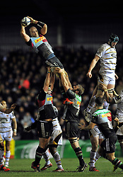 - Photo mandatory by-line: Patrick Khachfe/JMP - Mobile: 07966 386802 17/01/2015 - SPORT - RUGBY UNION - London - The Twickenham Stoop - Harlequins v Wasps - European Rugby Champions Cup