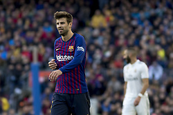 October 28, 2018 - Barcelona, Catalonia, Spain - Gerard Piqué during the spanish league match between FC Barcelona and Real Madrid at Camp Nou Stadium in Barcelona, Catalonia, Spain on October 28, 2018  (Credit Image: © Miquel Llop/NurPhoto via ZUMA Press)