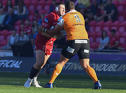 Scarlets Rob Evans<br /> <br /> Photographer Mike Jones/Replay Images<br /> <br /> Guinness PRO14 Round 22 - Scarlets v Cheetahs - Saturday 5th May 2018 - Parc Y Scarlets - Llanelli<br /> <br /> World Copyright © Replay Images . All rights reserved. info@replayimages.co.uk - http://replayimages.co.uk