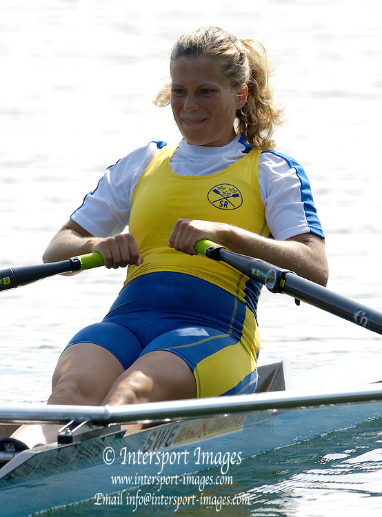 2006, U23 Rowing Championships, Hazewinkel, BELGIUM SWE BW1X, Carin ANDERSSON, Thursday, 20.07.2006.  Photo  Peter Spurrier/Intersport Images email images@intersport-images.com....[Mandatory Credit Peter Spurrier/ Intersport Images] Rowing Course, Bloso, Hazewinkel. BELGUIM