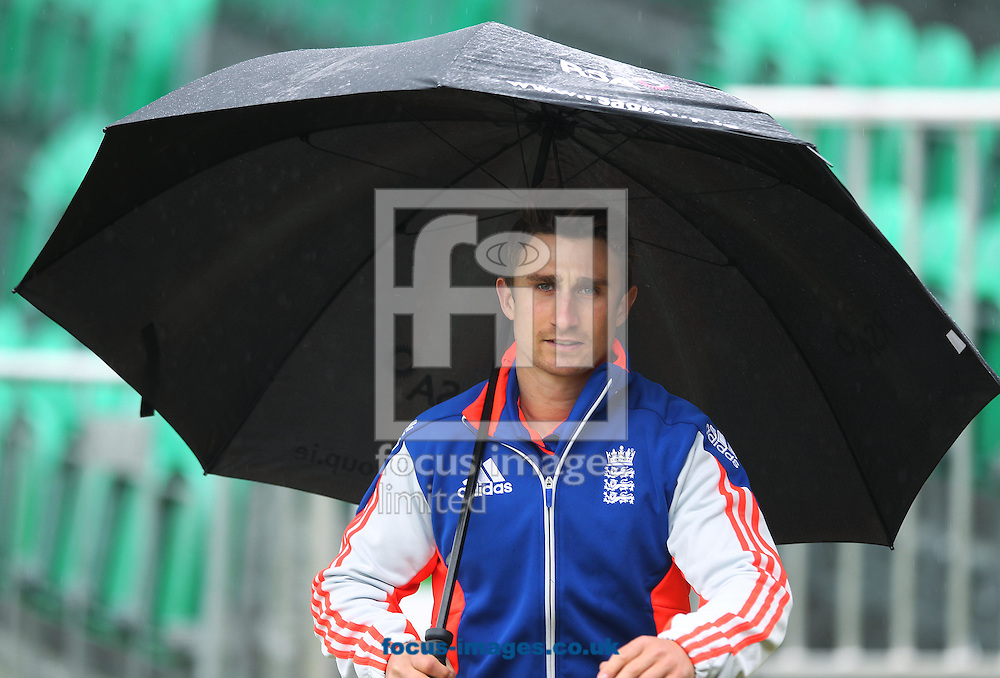 England captain James Taylor after the the One Day International match at the Village, Malahide was abandoned due to bad weather<br /> Picture by Lorraine O'Sullivan/Focus Images Ltd +353 872341584<br /> 08/05/2015