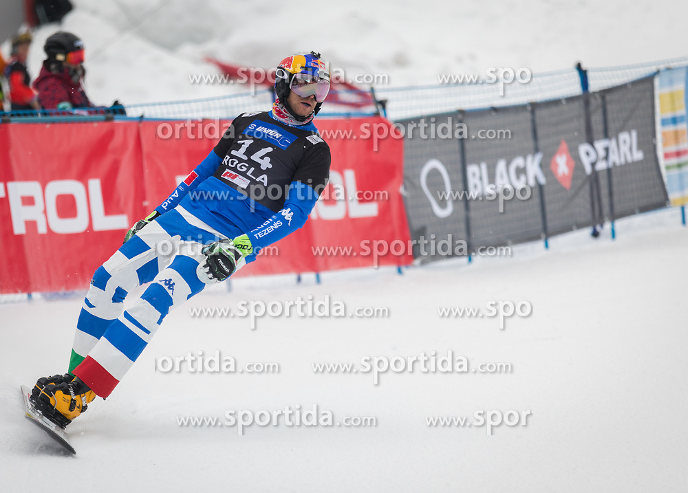 Fischnaller Roland during the men's Snowboard giant slalom of the FIS Snowboard World Cup 2017/18 in Rogla, Slovenia, on January 21, 2018. Photo by Urban Meglic / Sportida