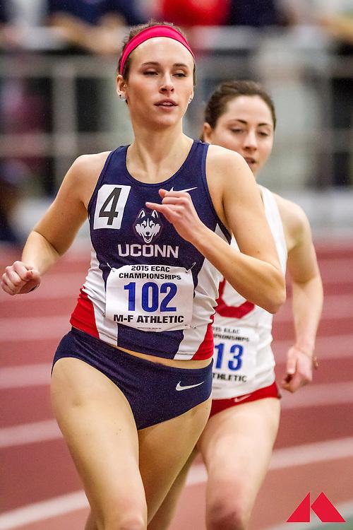 ECAC Indoor Champs, womens 1000 heats, Williamson, Laura         JR Connecticut