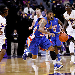 December 10, 2011; Baton Rouge, LA; Boise State Broncos guard Westly Perryman (30) against the LSU Tigers during the second half of a game at the Pete Maravich Assembly Center. LSU defeated Bosie State 64-45. Mandatory Credit: Derick E. Hingle-US PRESSWIRE