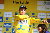 Podium BOASSON HAGEN Edvald (Nor) Yellow Leader Jersey during the 12th Tour of Britain 2015, Stage 5, Prudhoe - Hartside Fell (166.4Km) on September 10, 2015. Photo Tim De Waele / DPPI