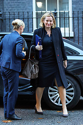 © Licensed to London News Pictures. 23/11/2016. London, UK. Home Secretary AMBER RUDD attends a cabinet meeting in Downing Street before the autumn statement announment on Wednesday, 23 November 2016. Photo credit: Tolga Akmen/LNP