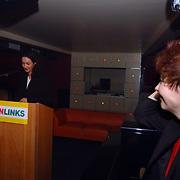 Start verkiezingscampagne GroenLinks, Paul Rosenmˆller, Marijke Vos kijkt toe