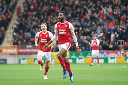 January 26, 2019 - Rotherham, England, United Kingdom - Semi Ajayi of Rotherham United celebrates after scoring his team's first goal to make it 1-0 during the Sky Bet Championship match between Rotherham United and Leeds United at the New York Stadium, Rotherham, England, UK, on Saturday 26th January 2019. (Credit Image: © Mark Fletcher/NurPhoto via ZUMA Press)