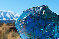 Blue Raw Glass and Sleeping Ute Mountain. Image taken with a Nikon D3 camera and 24-70 mm f/2.8 lens (ISO 200, 70 mm, f/22, 1/250 sec). Raw image processed with Capture One Pro, Focus Magic, and Photoshop CC.